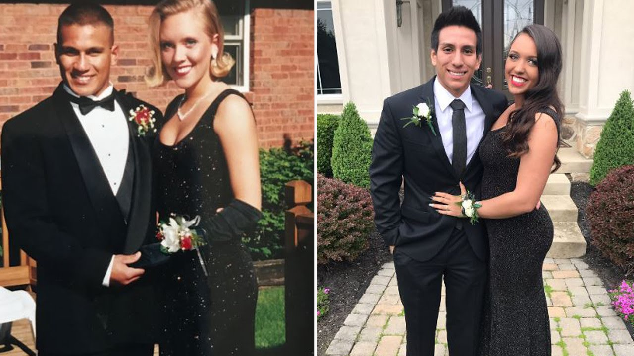 Teen Wears Same Prom Dress Mom Wore To Her High School Prom In