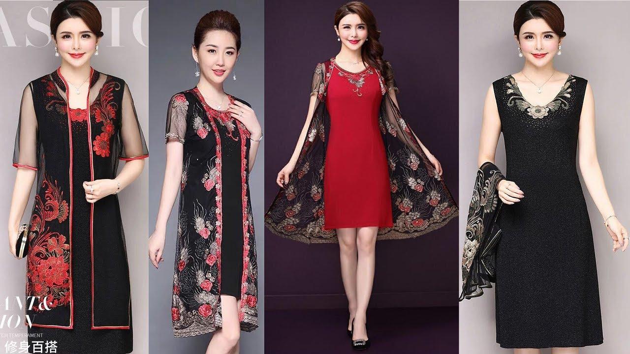 Đầm Thời trang quý bà trung niên U40, U50 cao cấp sang trọng 2020