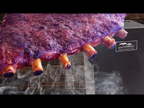 Smoking Ribs On My Char Broil Offset Smoker Doovi