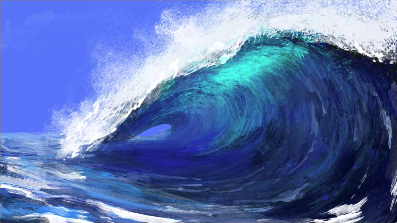 Billabong Girls Wallpaper How To Paint A Wave Of The Sea Photoshop Speed Painting