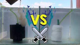 Sponge filter vs DIY: Sponge filter! Efficiency test?