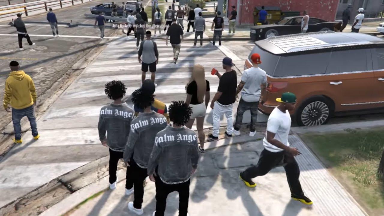 Download BAD KIDS HOOD PARTY! GTA 5 RP   YBN LS