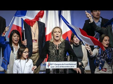 Thumbnail: National Front leader Marine Le Pen eyes up France's 2017 presidential election