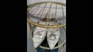 북유럽 골드 철제 다층 공간 절약 신발 정리대 실내화 …