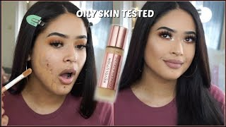 NEW (WEAR TEST) | MAKEUP REVOLUTION CONCEAL & DEFINE FOUNDATION REVIEW |Taisha thumbnail