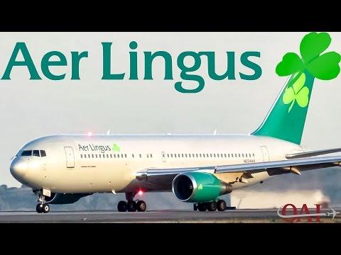 Aer Lingus 767-200/ER (B762) taxiing & departing Boston (BOS)