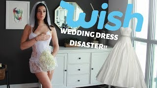 I TRIED WEDDING DRESSES FROM WISH!! DISASTER