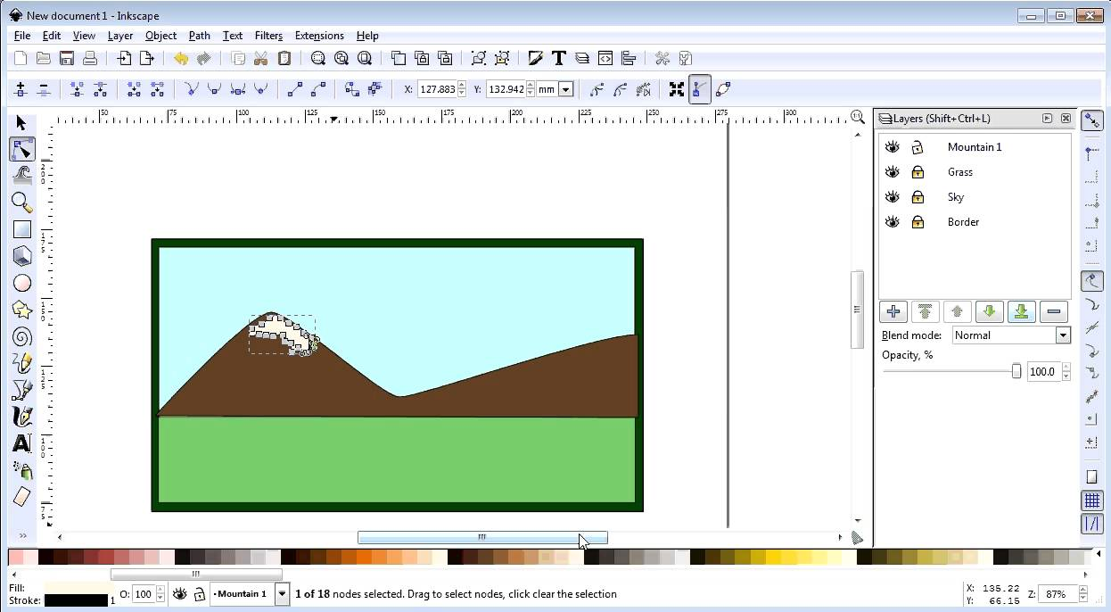 Inkscape - Activity 04 - Business Card - Part 03 - Mountains - YouTube