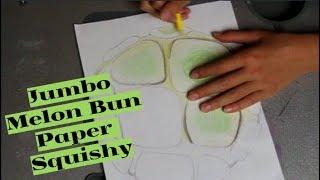 Making A JUMBO Puni Maru Melon Bun Paper Squishy