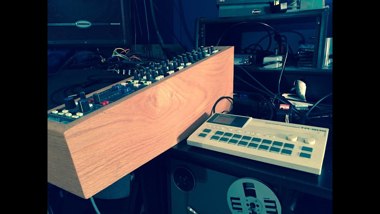 Roland tr 505 drum machine samples through neve console channel.