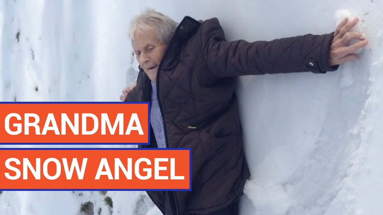 85 Year Old Woman Makes Snow Angel On Birthday | Daily Heart Beat