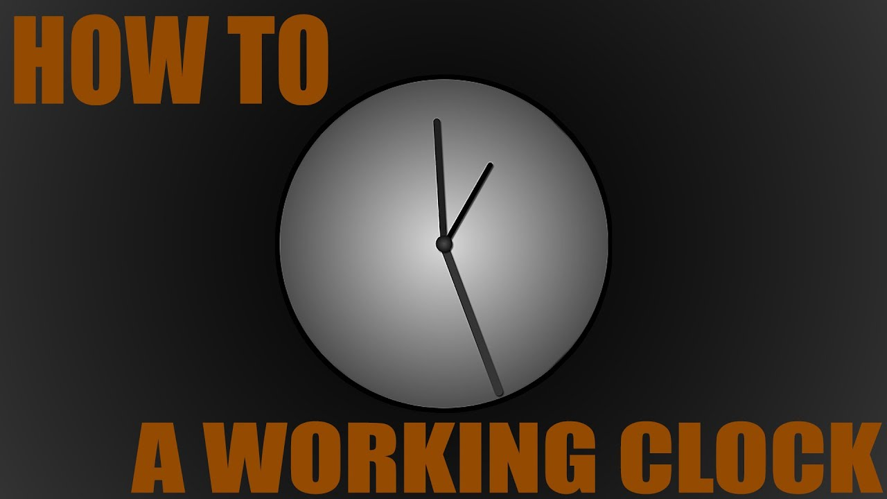 How To Make A Working Clock In After Effects