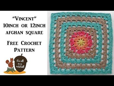 """Vincent"" afghan square - Free Crochet Pattern"