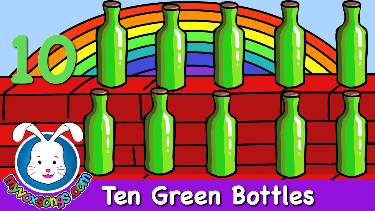 Ten Green Bottles   Nursery Rhymes   Recycle Songs