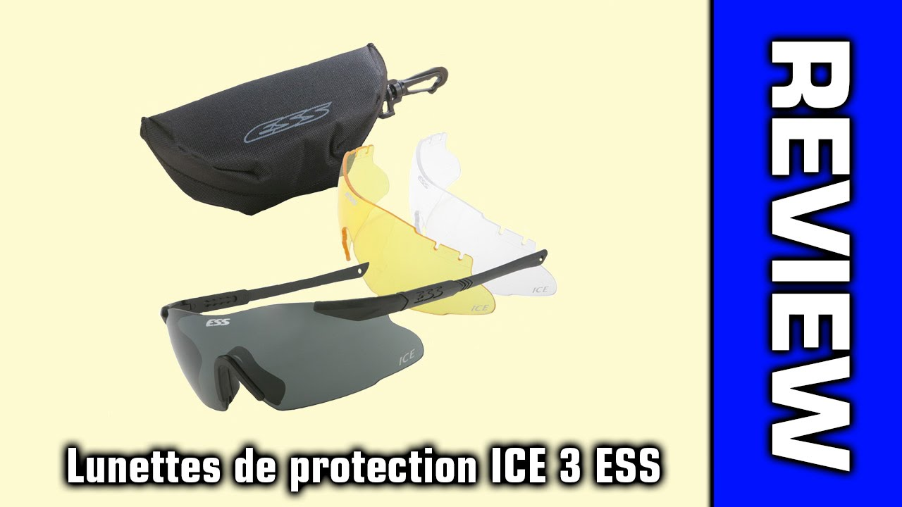 Review Lunettes de protection ICE 3 ESS  FR  - YouTube 3f054f972f61