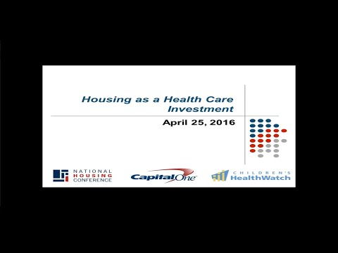 Webinar: Housing as a Health Care Investment for Children