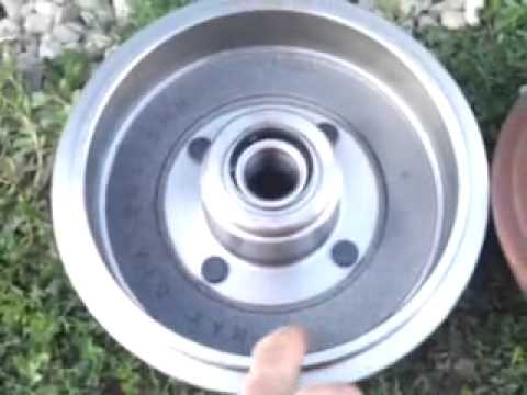 2002 focus rear wheel bearing change - YouTube