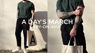 Minimal Style: A Day's March Try-on Haul | Men's Fashion | Daniel Simmons