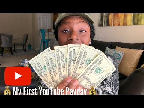 HOW LONG DOES IT TAKE TO EARN MONEY ON YOUTUBE?!! + MY FIRST YOUTUBE PAYCHECK