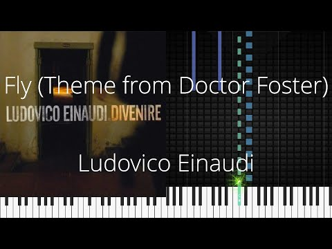 🎹 Fly (Theme from Doctor Foster), Ludovico Einaudi, Synthesia Piano Tutorial
