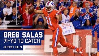 Tyrod Taylor Finds Former Jets WR Greg Salas for 71-Yard TD! | Jets vs. Bills | NFL