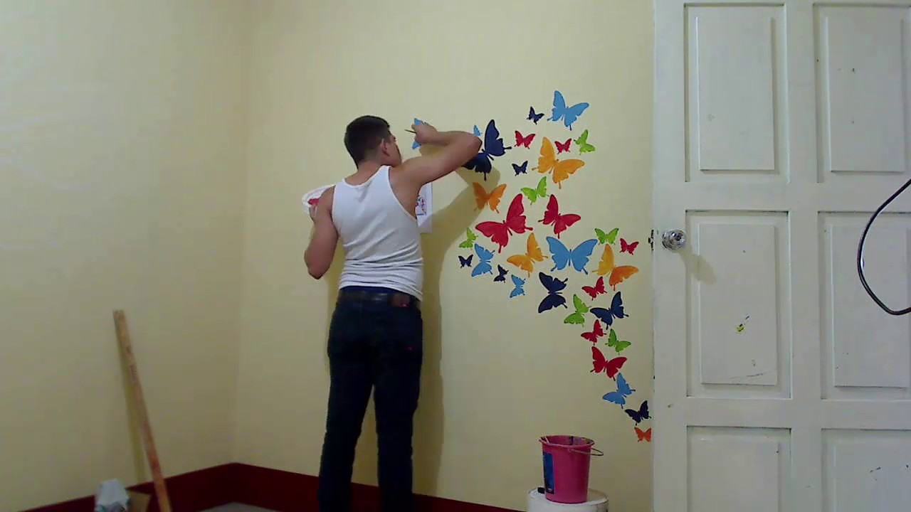 Decoraci n de mariposas en habitaci n youtube - Decoracion con mariposas ...