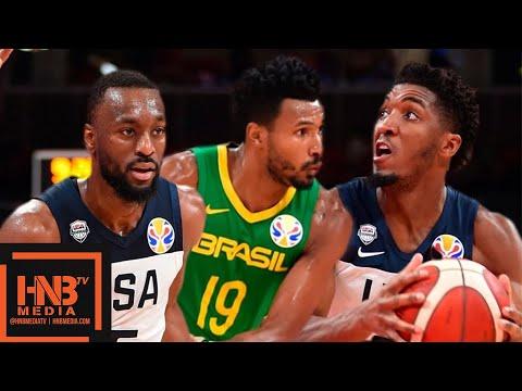 USA vs Brazil - Full Game Highlights | FIBA World Cup 2019