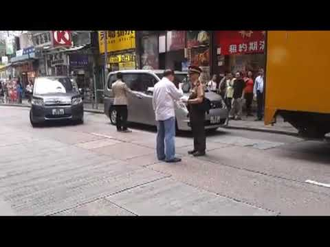 Illegal Parking in Hongkong (driver Argue w/ the officer)