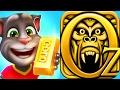 Talking Tom Gold Run VS Temple Run Oz / Cartoon Games Kids TV