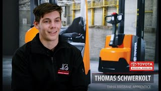 Meet Thomas our 2021 TMHA Forklift Apprentice