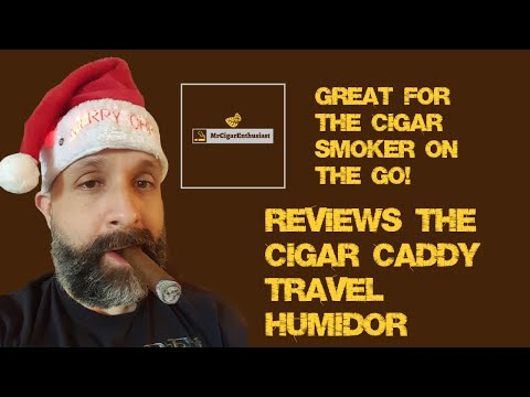 MrCigarEnthusiast Reviews The Cigar Caddy Travel Humidor