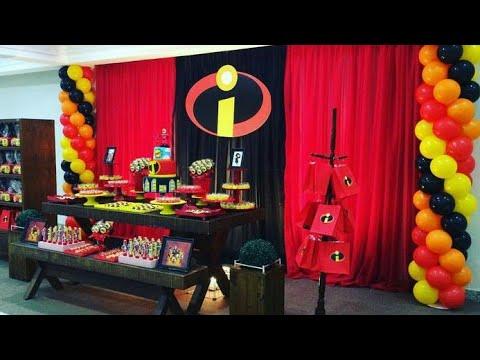 Fiesta De Los Increiblesparty The Incredibles2018decoracion - Adornos-fiesta-infantil