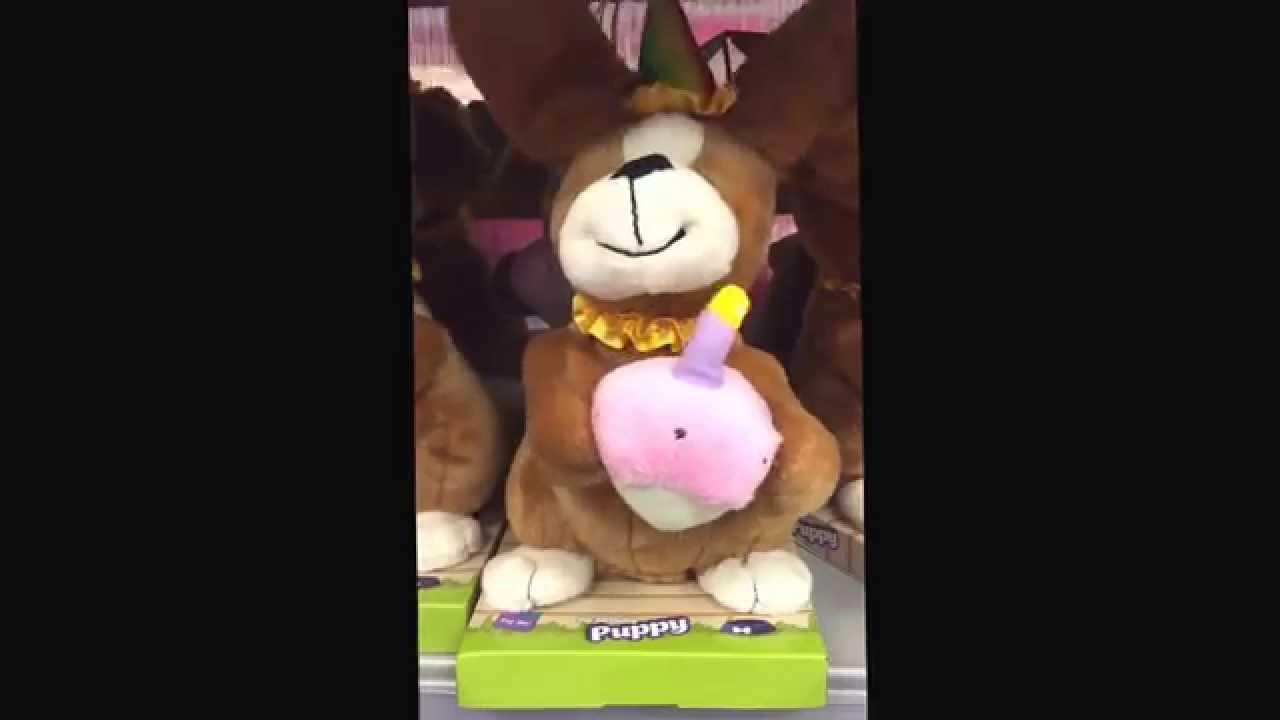 Singing Birthday Dog Plush Toy