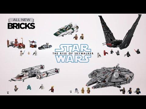 Lego Star Wars The Rise Of Skywalker Compilation Of All Wave 1 Sets