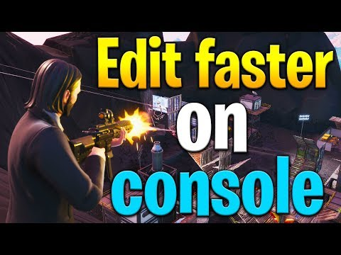 How to EDIT FASTER on CONSOLE! Fortnite console tips! Fortnite tips!