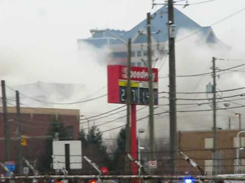 RCA Dome Implosion from Indianapolis Dec 20 2008 Part 1 of 2