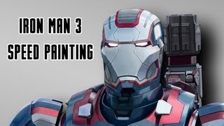 Speed Painting - Iron Patriot/James Rhodes from Iron Man 3