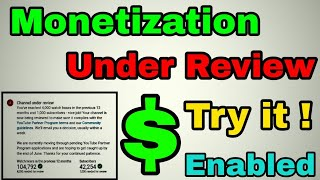 Monetization NOT ENABLED ! | Channel Still Under Review 😢 | Must Watch 😄