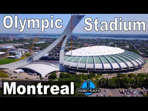 Olympic Stadium Montreal | Drone Aerial View | Tourist Attractions in Montreal | 4K