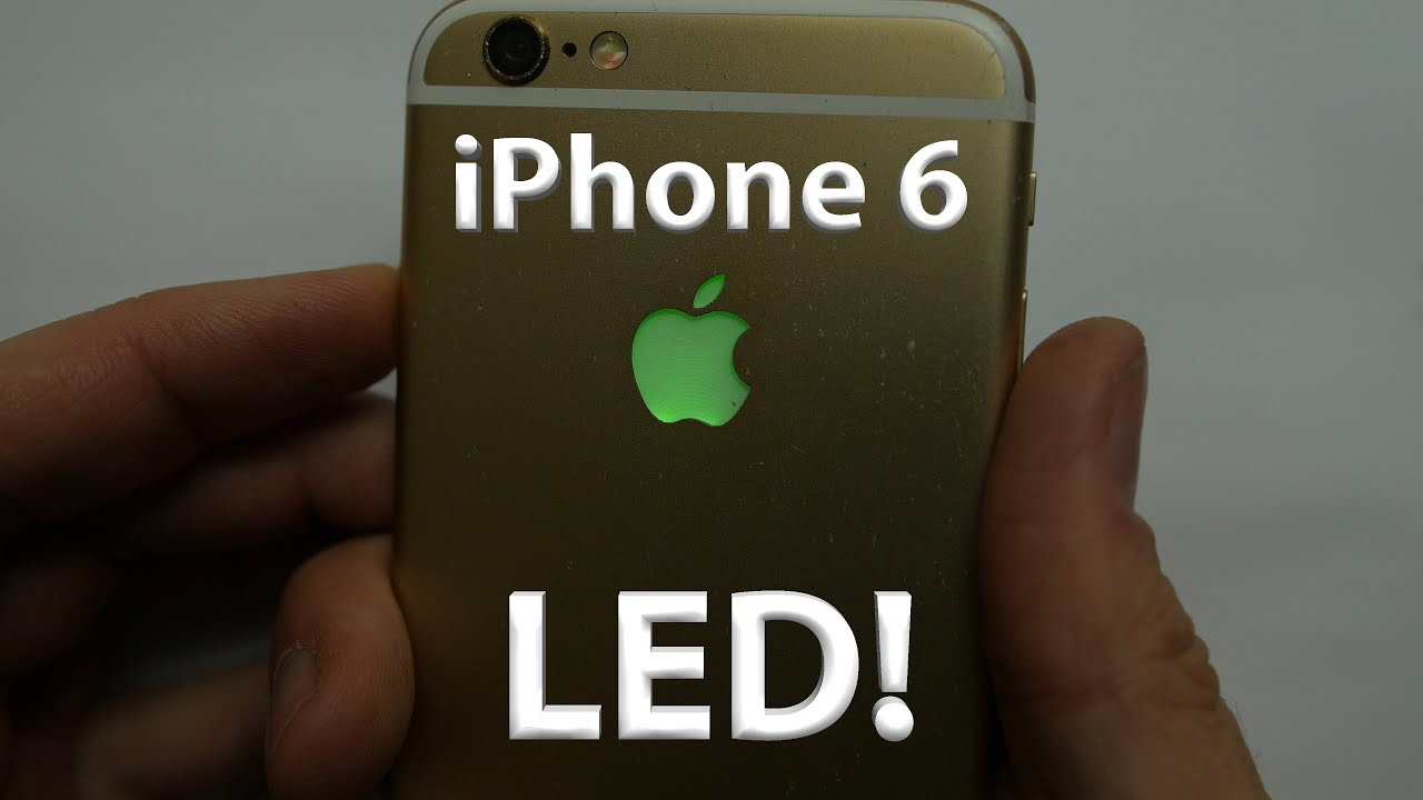 Iphone 6 led light up apple logo diy lots of colors youtube solutioingenieria Gallery