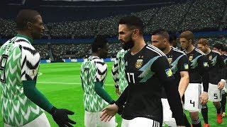 PES   Nigeria vs Argentina   FIFA World Cup 2018   Gameplay PC