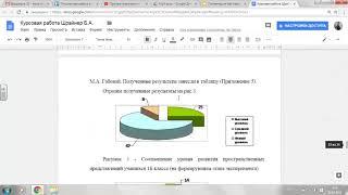 Google Документы: оформление письменной работы (реферат, курсовая работа, ВКР)
