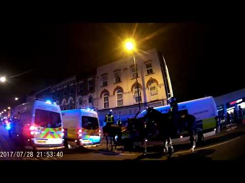 London Dalston Kingsland Road Riots 28/07/ 2017