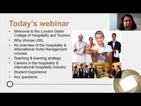 Webinar 2017-2018: Studying Hospitality