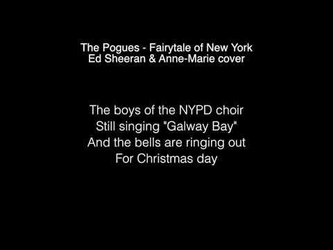 Ed Sheeran & Anne Marie - Fairytale Of New York Lyrics (in the Live Lounge)