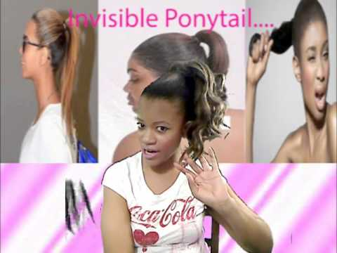 diy invisible ponytail weave talk youtube