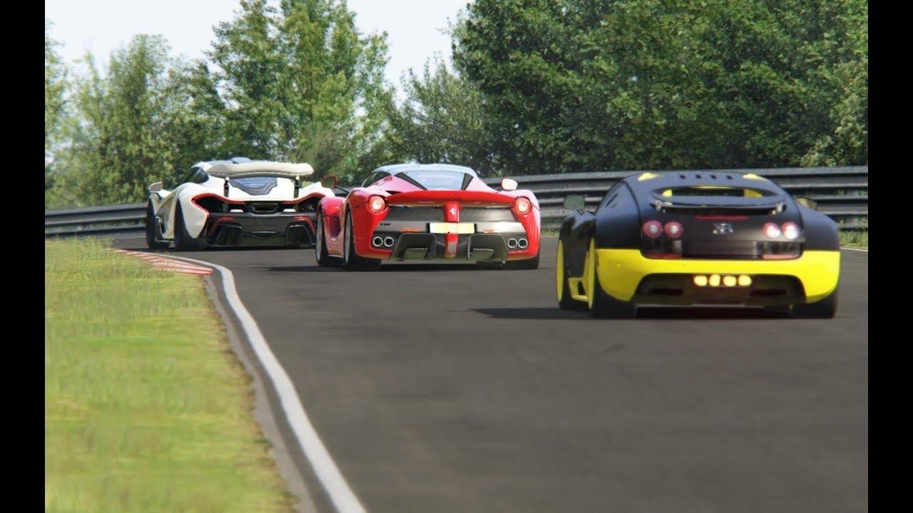bugatti veyron 16 4 super sport vs ferrari laferrari vs mclaren p1 at nordschleife youtube