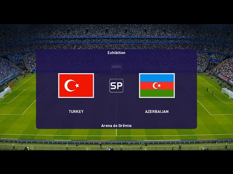 PES - Turkey Vs Azerbaijan Full Match HD - Efootball 2021 Gameplay PC