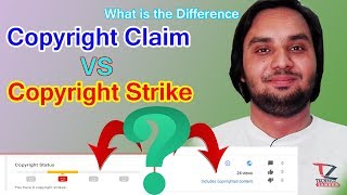 What is the Difference Between || Copyright Claim vs Copyright Strike || In Hindi Urdu