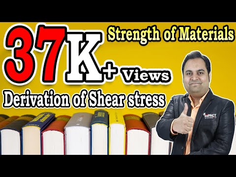 Derivation Of Shear Stress | Stresses And Beams | Strength Of Materials |
